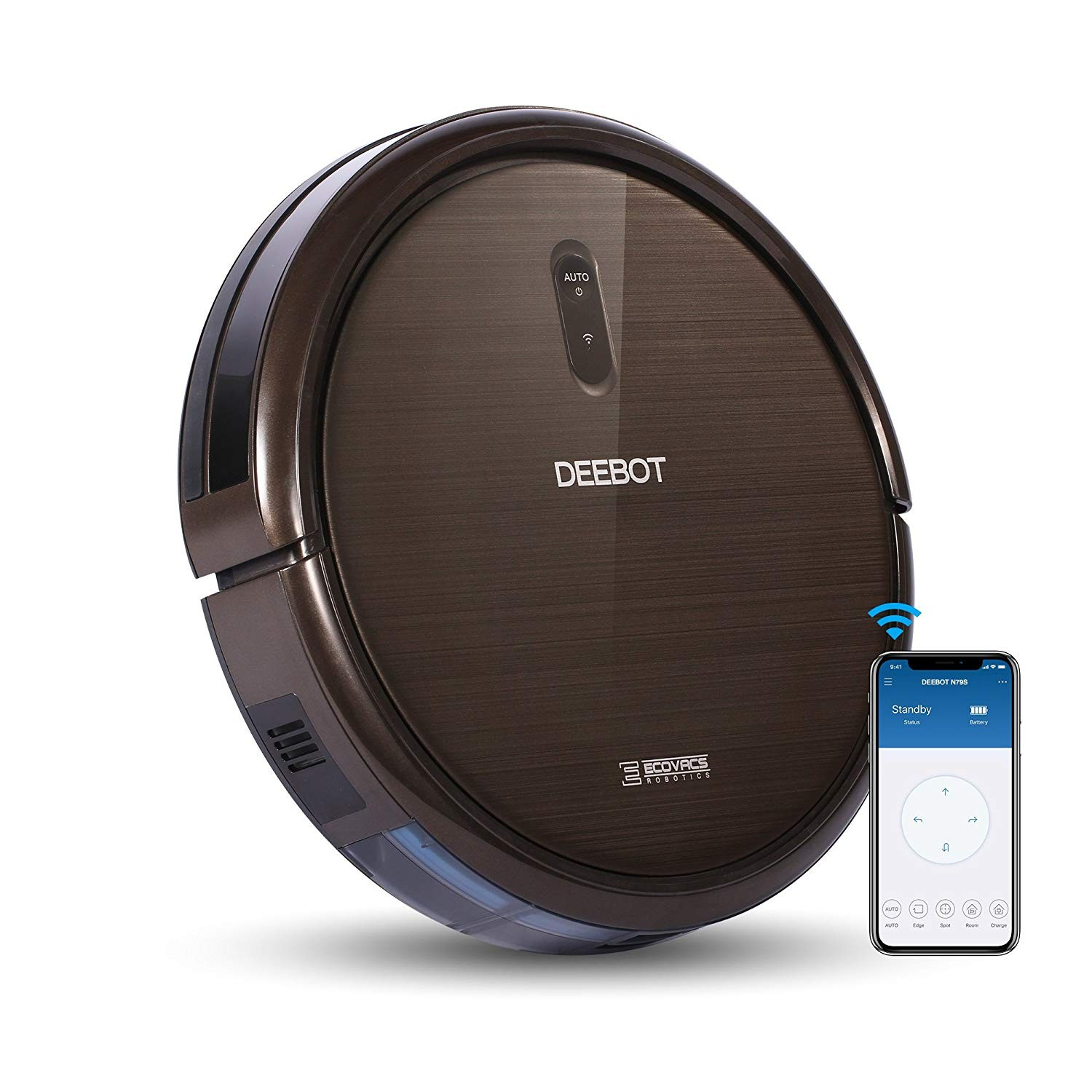 Amazon ECOVACS DEEBOT N79S Robot Vacuum Cleaner with Max Power Suction Alexa Connectivity App Controls Self Charging for Hard Surface Floors & Thin