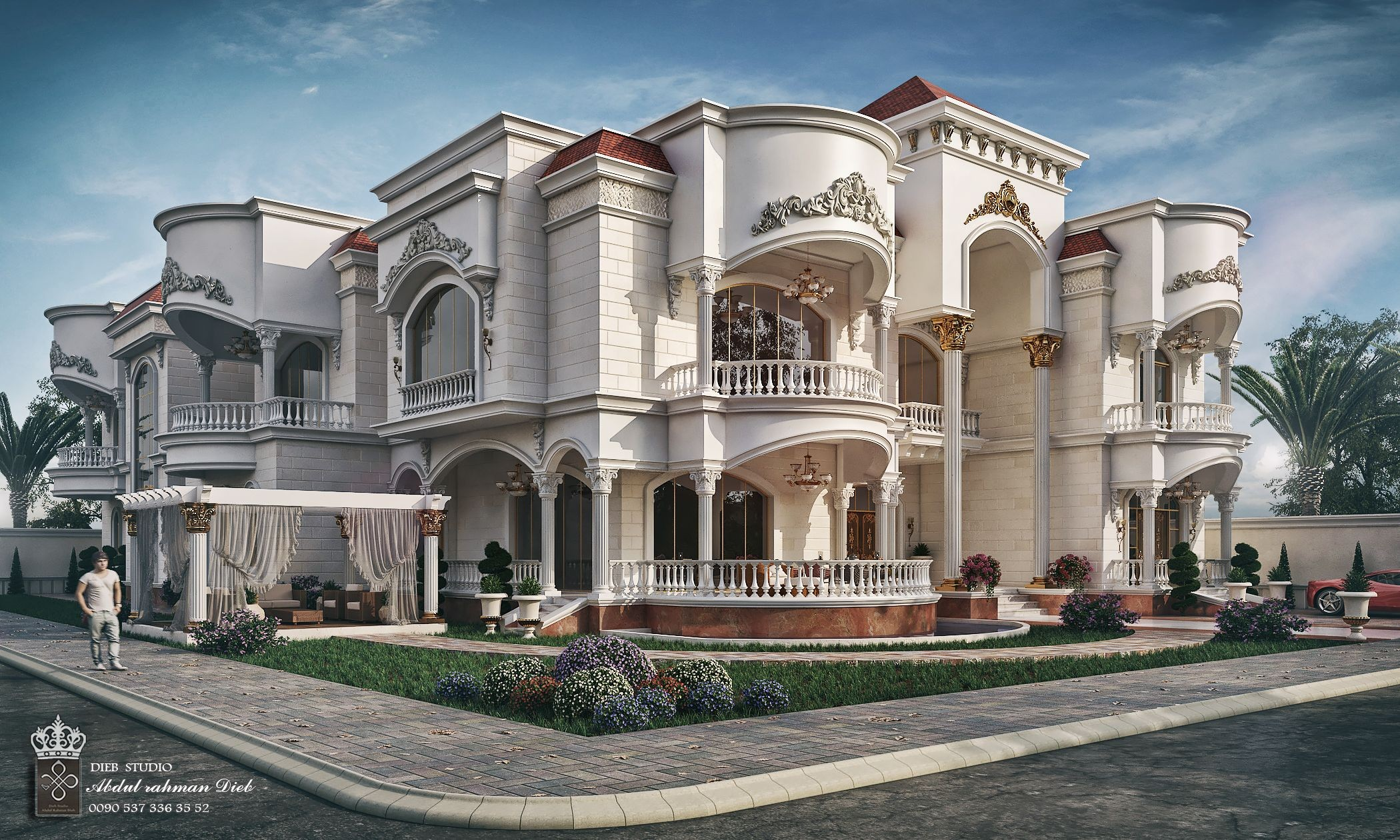 FARES IN UAE on Behance Villa Design Modern House Design Mansion