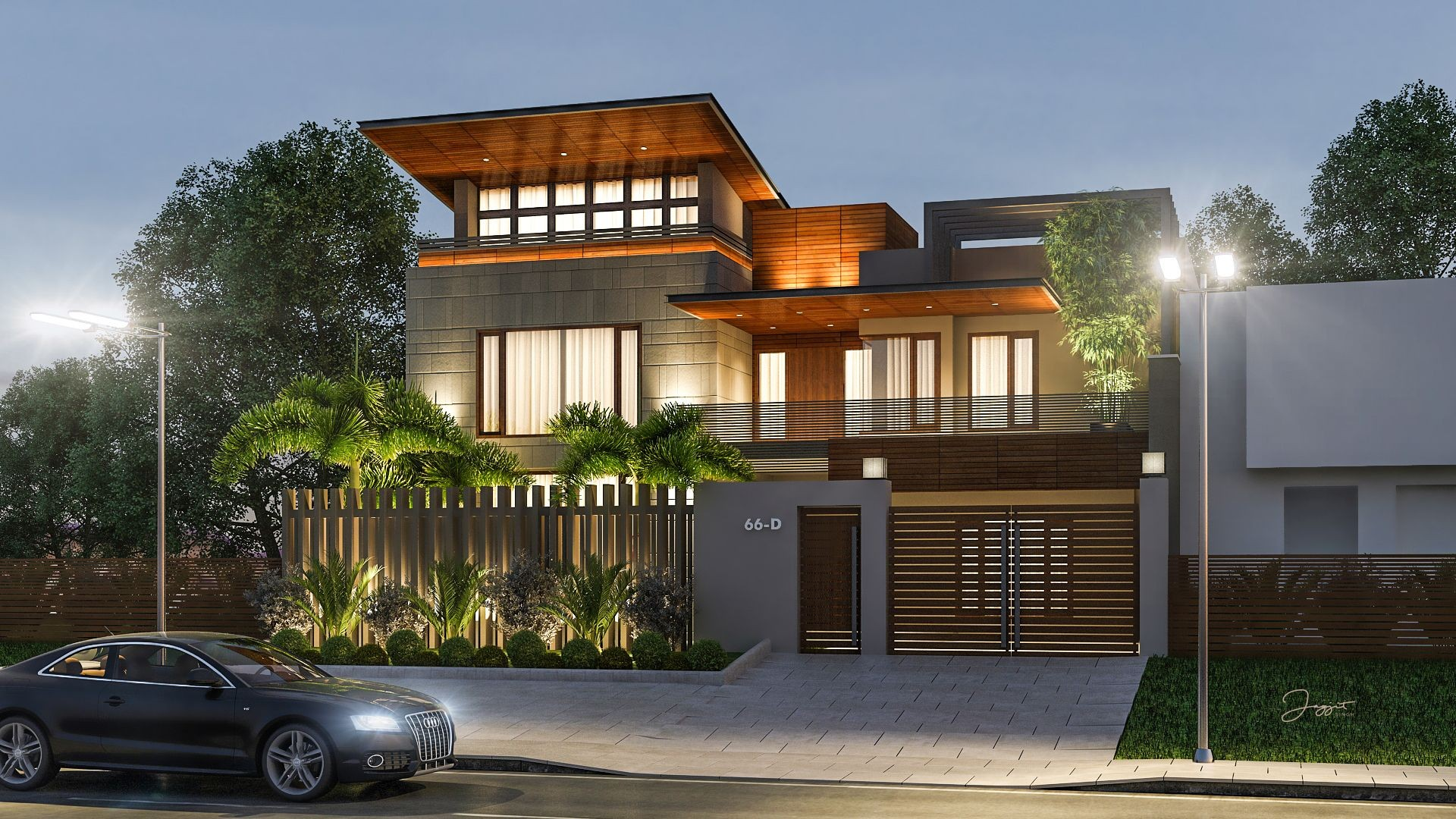 Exterior design and render for client at Model Town Ludhiana