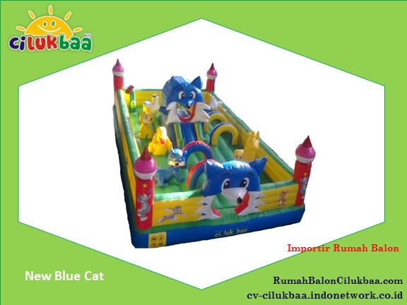 jual Istana Rumah Balon 5x8 - New Blue Cat- Surabaya