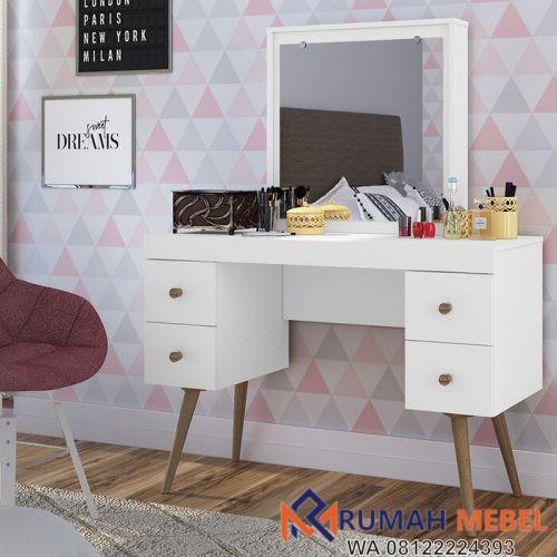 Meja Rias Perempuan Vanity Putih