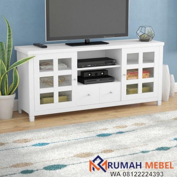 Meja TV Minimalis Modern Putih Andover