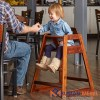 Kursi Restoran Anak Walnut