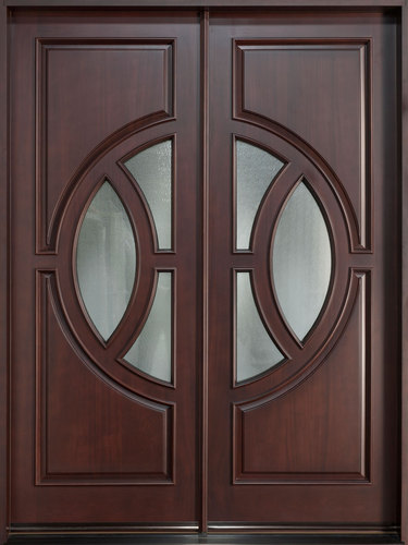 Pintu Rumah Minimalis Jati Kupu Tarung