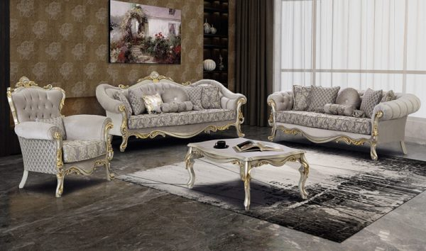 Sofa Ruang Tamu Mewah Klasik Poyraz