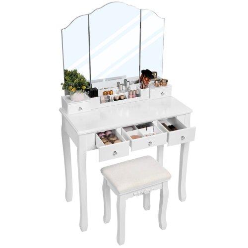 Meja Rias Warnah Putih Terbaru Rochelle