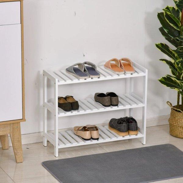 Rak Sepatu Kayu Mahoni Minimalis