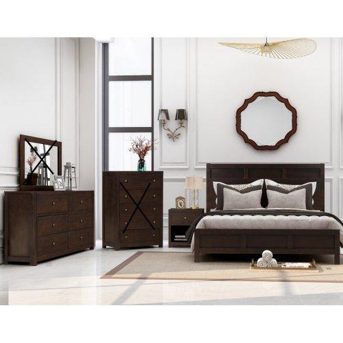 Tempat Tidur Jati Satu Set Klasik Alvinia