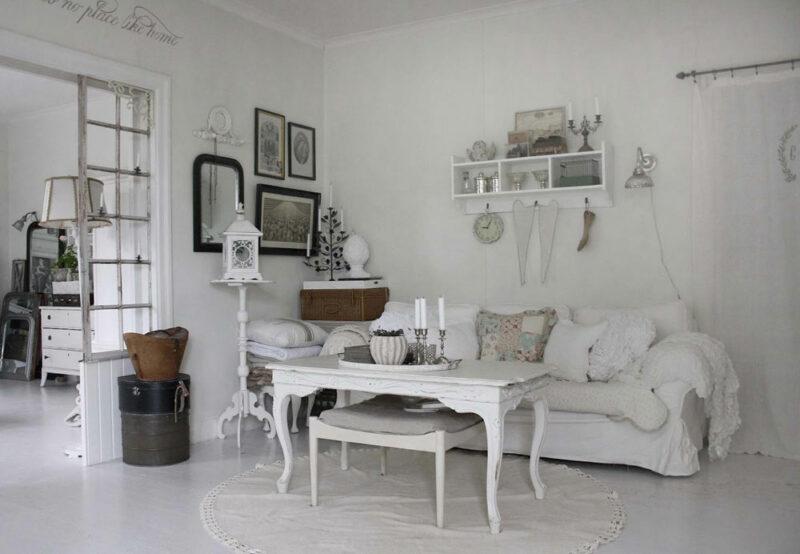 Desain interior rumah shabby chic