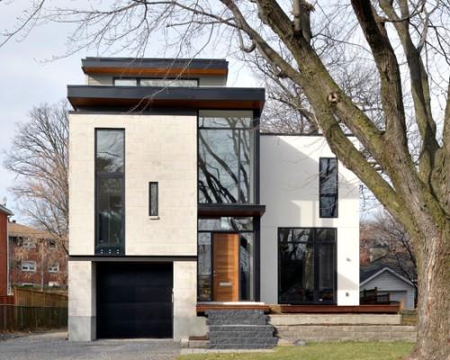 Desain Tampak Depan Rumah Minimalis Hitam Putih