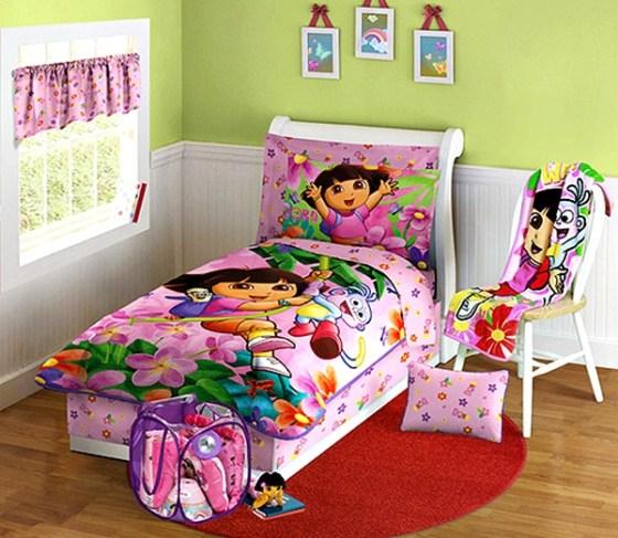 Kamar Tidur Anak Perempuan Dora - 22 Desain Kamar Tidur Anak Perempuan Sederhana