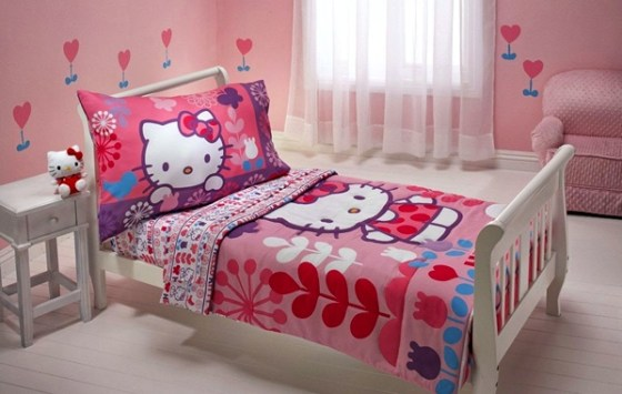 Kamar Tidur Anak Perempuan Hello Kitty - 22 Desain Kamar Tidur Anak Perempuan Sederhana