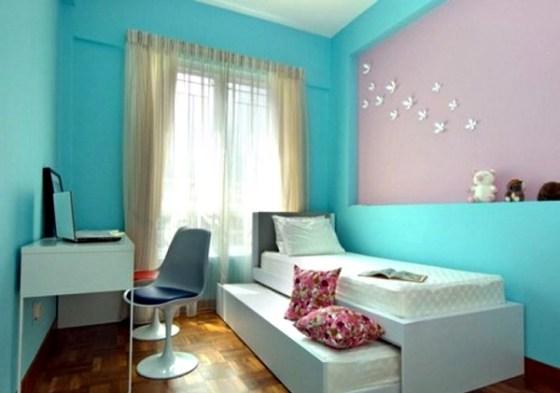 Kamar Tidur Anak Perempuan Sederhana Warna Biru - 22 Desain Kamar Tidur Anak Perempuan Sederhana