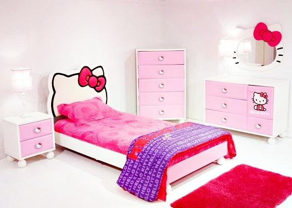 Kamar Tidur Anak Perempuan Sederhana Warna Putih