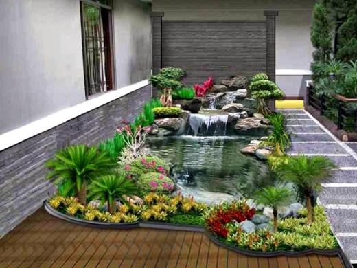 Taman rumah minimalis dengan kolam 1