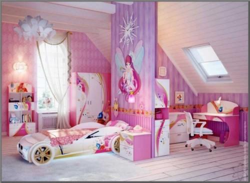 Desain Kamar Tidur Anak Perempuan Barbie 4 - 22 Desain Kamar Tidur Anak Perempuan Frozen, Hello Kitty, Barbie