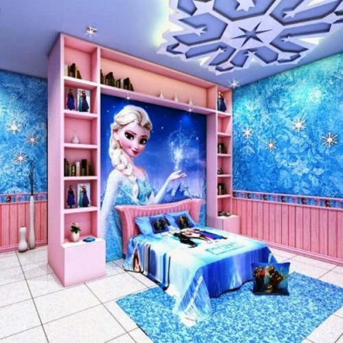 Desain Kamar Tidur Anak Perempuan Frozen 6