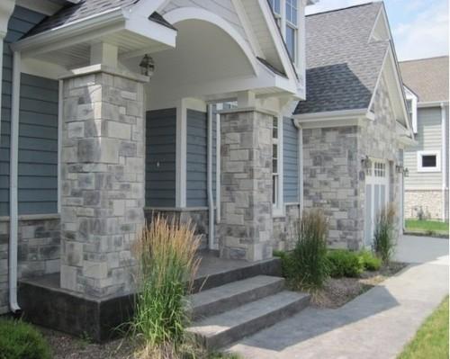 Dinding Teras Rumah Minimalis Batu Alam 10 - 20+ Dinding & Tiang Teras Rumah Minimalis Batu Alam Terbaik