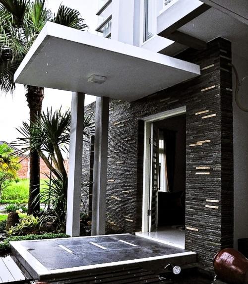 Dinding Teras Rumah Minimalis Batu Alam 6 - 20+ Dinding & Tiang Teras Rumah Minimalis Batu Alam Terbaik