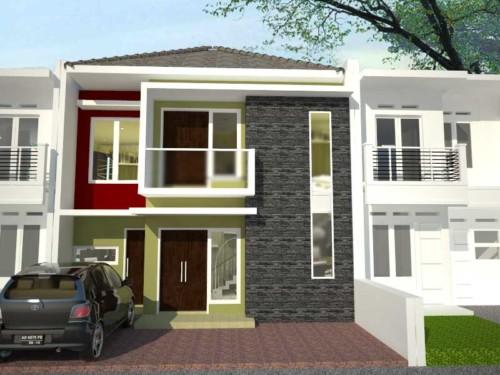 Gambar Tampak Depan Rumah Minimalis 2 Lantai Modern