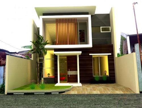 Gambar Tampak Depan Rumah Minimalis 2 Lantai Modern 7 - 21 Model Atap Rumah Minimalis Bagian Depan Terbaru 2018