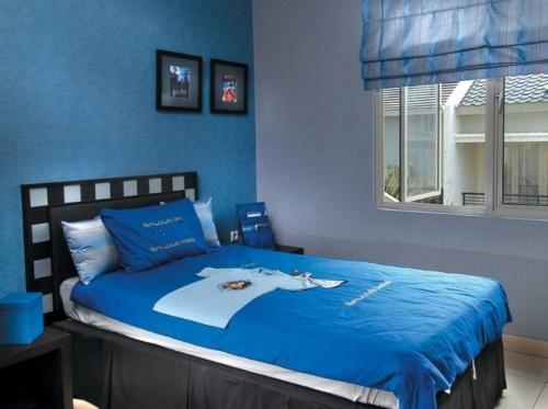 Warna Cat Kamar Tidur Minimalis Biru