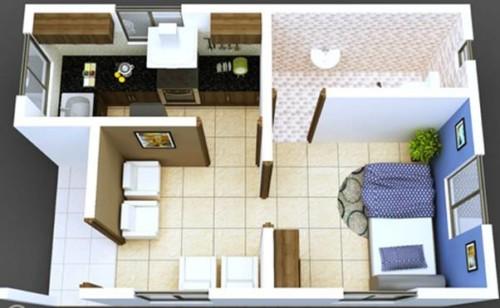 Denah Rumah Tipe 21 Sederhana