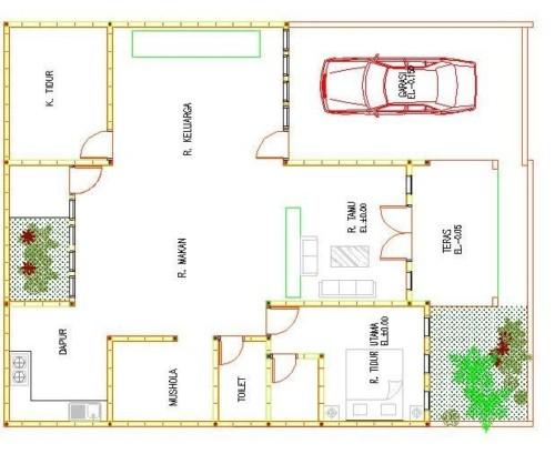 Desain Rumah Sederhana Ukuran 7x9 Meter - 10 Bentuk Denah Rumah Minimalis Sederhana Ukuran 7x9 Meter
