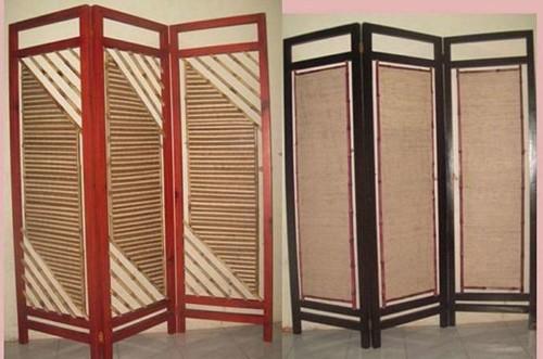 Sekat Ruangan dari Bambu dan Rotan - 16 Desain Sekat Pembatas Ruangan Minimalis Modern yang Bagus
