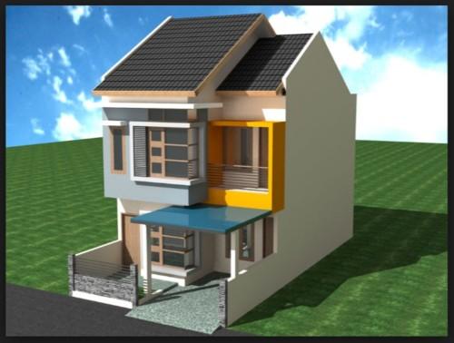 Model Rumah 2 Lantai Ukuran 6x12 Meter - 11 Model Denah Rumah 2 Lantai Ukuran 6x12 Meter Terbaru 2018