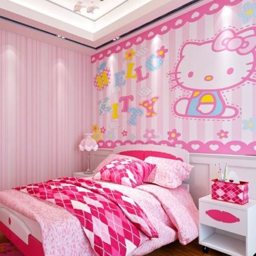 Desain Gambar Kamar Tidur Hello Kitty Anak Perempuan 16 - 25 Desain Gambar Kamar Tidur Hello Kitty Anak Perempuan