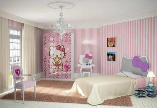 Desain Gambar Kamar Tidur Hello Kitty Anak Perempuan 5 - 25 Desain Gambar Kamar Tidur Hello Kitty Anak Perempuan