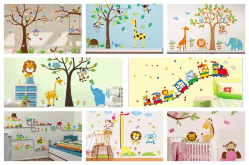 12 Desain Stiker Dinding Lucu Kamar Anak Jadi Ceria