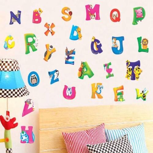 stiker dinding abjad - 12 Desain Stiker Dinding Lucu Kamar Anak Jadi Ceria