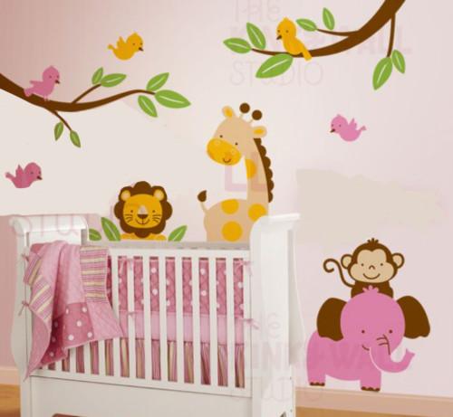 stiker dinding kamar anak lucu - 12 Desain Stiker Dinding Lucu Kamar Anak Jadi Ceria