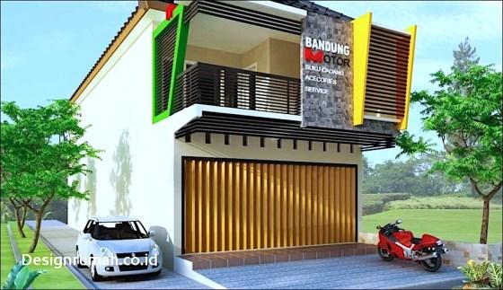 rumah toko 2 lantai - Tips Desain Rumah dan Toko dalam Satu Bangunan 2019