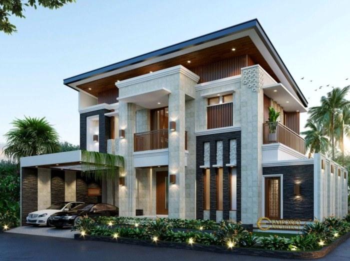 model atap rumah mewah 2 lantai
