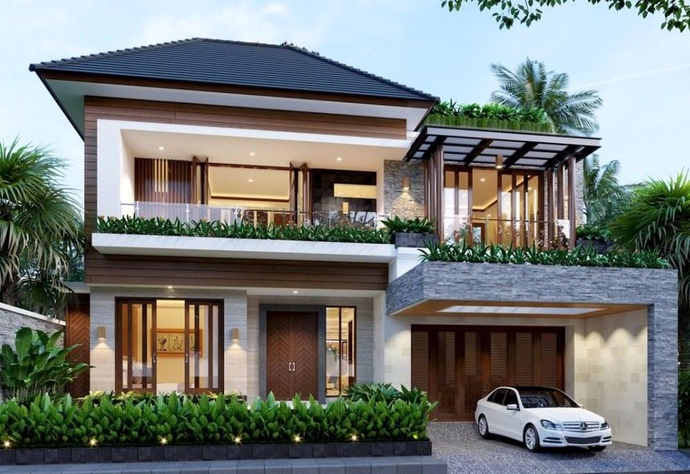 gambar atap rumah mewah 2 lantai
