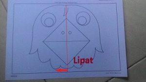 Kreasi lipat kertas Membuat Mulut burung 1