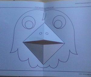 Kreasi lipat kertas Membuat Mulut burung 5