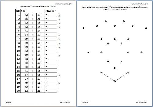 Soal Matematika penjumlahan untuk anak Level 6-2