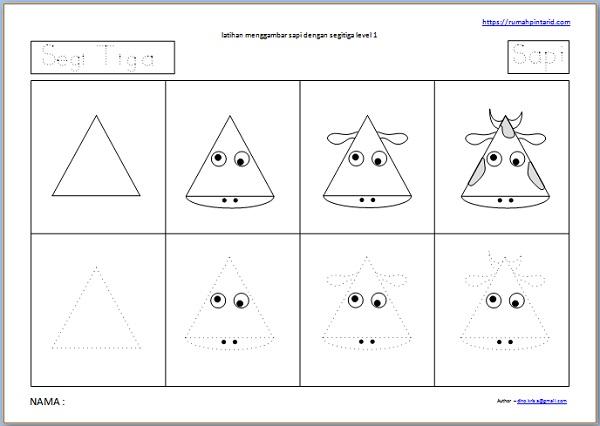 gambar sapi dan segitiga