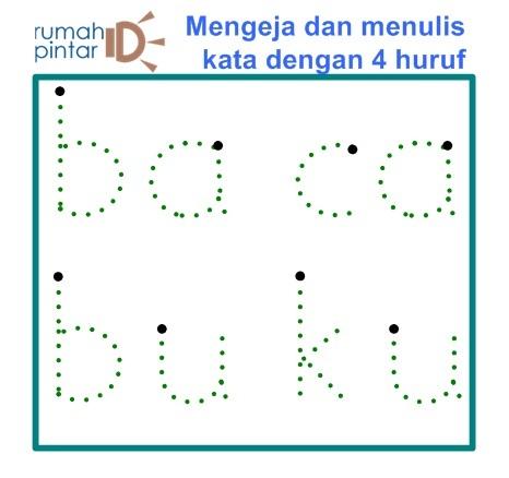 Belajar mengeja dan menulis dasar dengan 4 HURUF