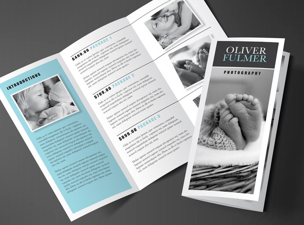 Tri Fold Brochure Template Blue Quot Serenity Quot Rumble