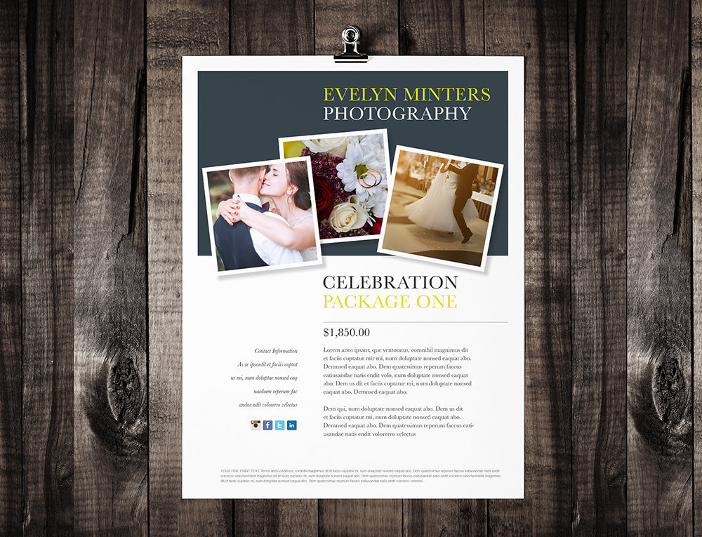 Single Page Brochure Template Minter Rumble Design Store - Printable brochure templates