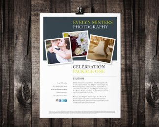 single page brochure template minter rumble design store