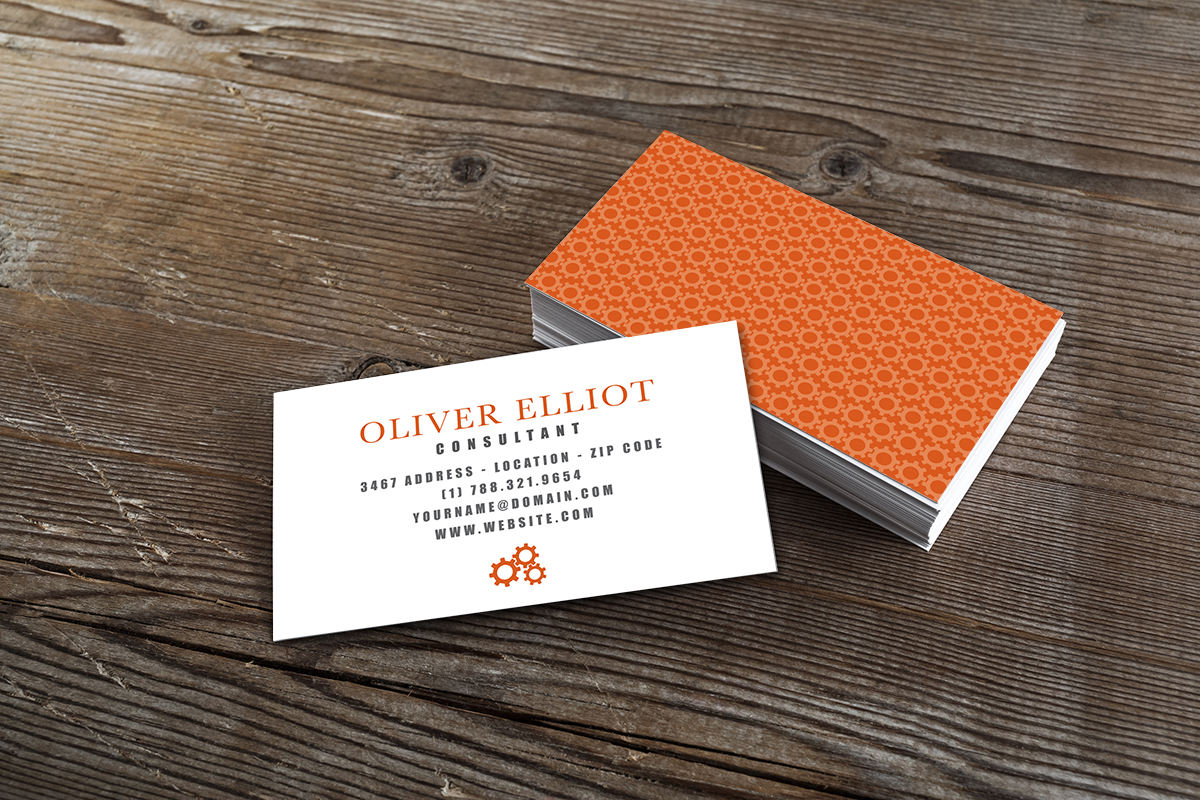 Printable Consultant Business Card Template – \