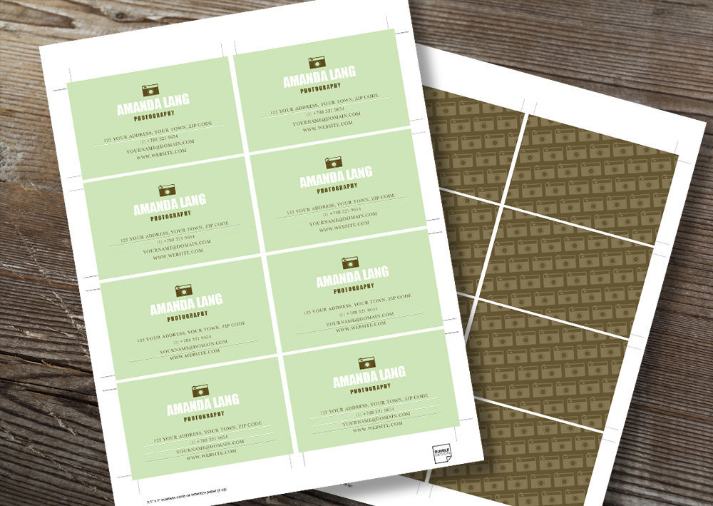 Printable Business Card Template – \