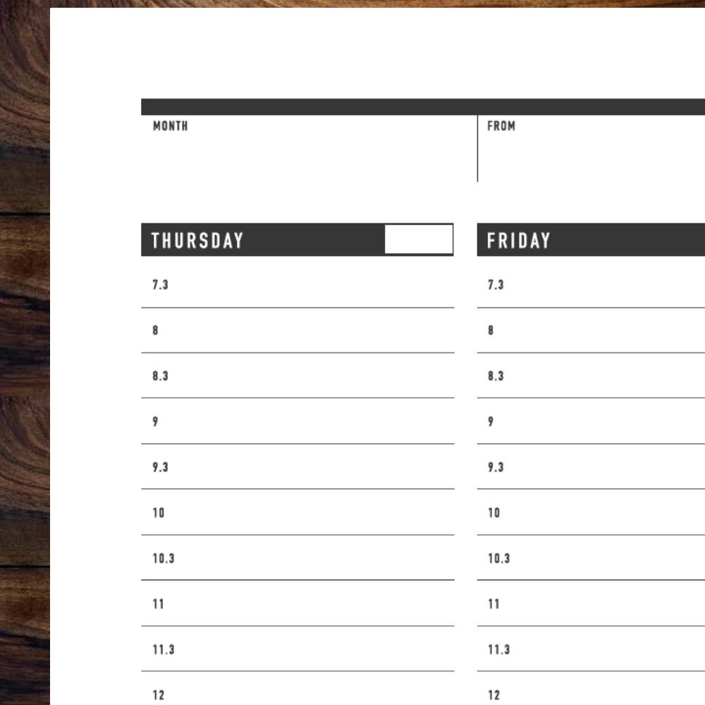 graphic regarding Printable Weekly to Do List titled Printable Weekly Planner Template
