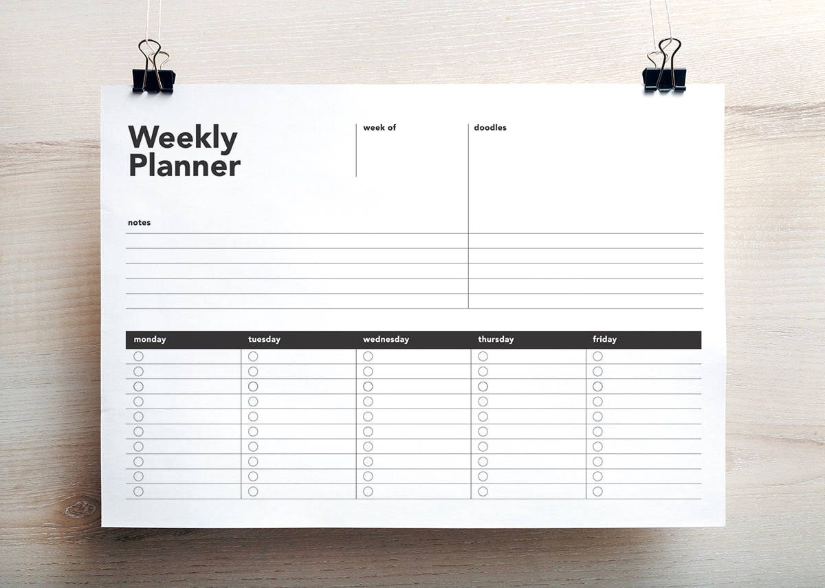photo about Printable Weekly to Do List identified as 1 Website page Weekly Planner / Toward Do Record
